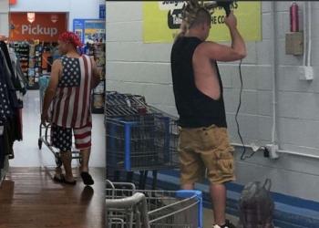 11 очень странных людей, которых смогли сфотографировать в супермаркетах