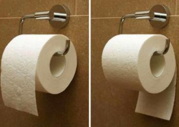 Как все-таки правильно вешать туалетную бумагу: ответ экспертов