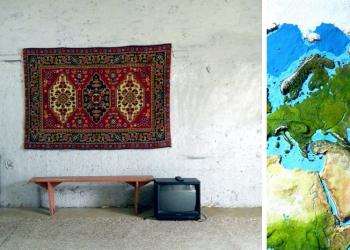 Житель Надыма превратил стену своего гаража в карту планеты