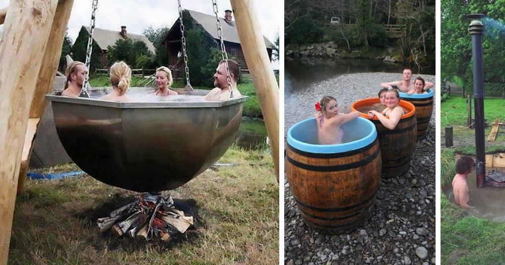 Креативные летние бассейны и душевые