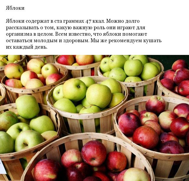 Полезные низкокалорийные продукты